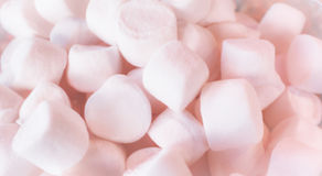 Pink Marshmallows Blurred Background Royalty Free Stock Images