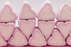 Pink marshmallows close up Royalty Free Stock Photos