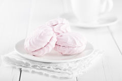 Pink marshmallows Stock Photography
