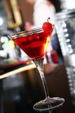 Pink martini cocktail in a bar Stock Image