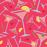 Pink Martini Pattern Royalty Free Stock Photos