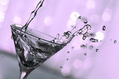 Pink martini splash Royalty Free Stock Image