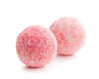 Pink marzipan balls Royalty Free Stock Photography