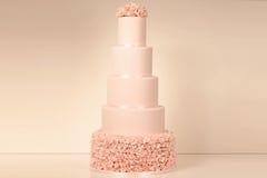 Pink marzipan cake Stock Photos