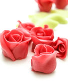 Pink marzipan roses Royalty Free Stock Photography