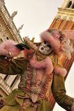 Pink mask in Venice Royalty Free Stock Images