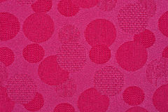 Pink material in circles, a background Stock Photos