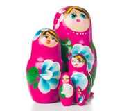 Pink matryoshka Russian dolls Stock Images
