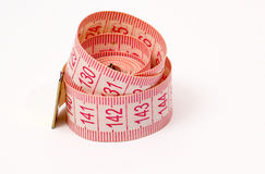 Pink measure tape Stock Photos