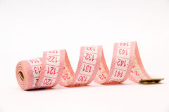 Pink measure tape Royalty Free Stock Photo