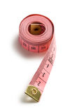Pink measuring tape Royalty Free Stock Images