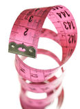 Pink measuring tape stock photography