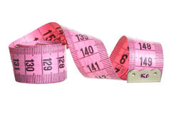 Pink measuring tape Royalty Free Stock Photography