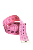 Pink measuring tape Stock Photos