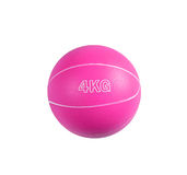 Pink medicine ball for fitness Royalty Free Stock Image