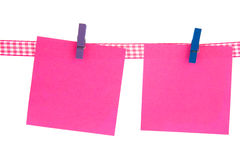 Pink memo sheets Royalty Free Stock Photography