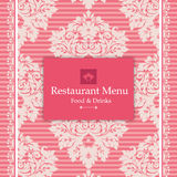Pink Menu Design Royalty Free Stock Photography