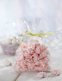 Pink meringue cookies Stock Photos