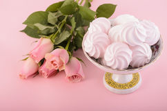 Pink meringue Royalty Free Stock Photo