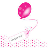 Pink message ballon vector background Stock Images