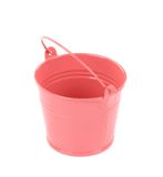 Pink metal bucket. Royalty Free Stock Photography
