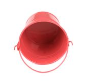 Pink metal bucket. Stock Images