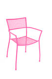 Pink Metal Chair Stock Photo