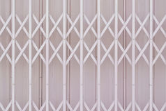 Pink metal grille sliding door Royalty Free Stock Photos
