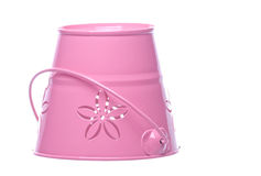 Pink Metal Pail Isolated Stock Photography