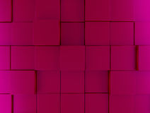 Pink metallic cubes background. Abstract background of metallic cubes in pink, 3d rendering Stock Photos