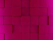 Pink metallic cubes background Stock Photos
