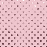 Pink Metallic Foil Polka Dot Pattern Royalty Free Stock Images