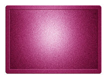 Pink Metallic Plate. With clippingpath for white background removal Royalty Free Stock Photography
