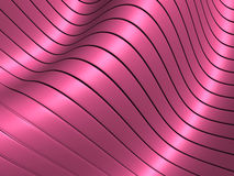 Pink metallic wave shape background Stock Images