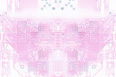 Pink microelectronics background chips Stock Photography