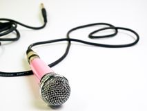 Pink microphone Royalty Free Stock Photo