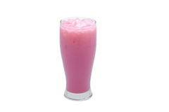 Pink milk ice. Royalty Free Stock Photography