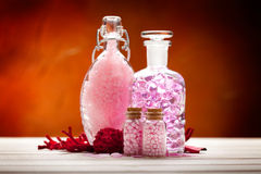 Pink minerals for Spa Stock Photos