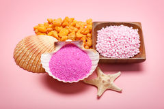 Pink minerals for Spa Royalty Free Stock Photography