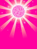 Pink Mirror Discoball. Glittering discoball with stars against a pink background royalty free illustration