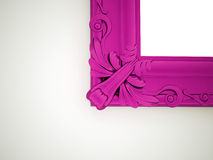 Pink mirror frame vintage Stock Photo