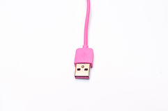 Pink Mobile phone cabler  Stock Photography