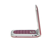 Pink mobile phone close-up Royalty Free Stock Image