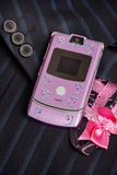 Pink mobile phone Stock Images