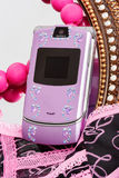 Pink mobile phone Royalty Free Stock Photography