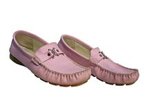 Pink moccasins Royalty Free Stock Photography