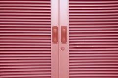 Pink modern aluminium window Stock Photo