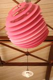 Pink modern lamp Royalty Free Stock Images
