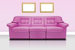 Pink modern sofa Royalty Free Stock Images