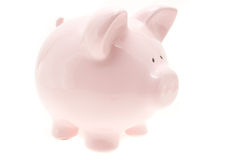 Pink money pig Royalty Free Stock Image